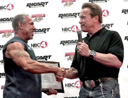 Arnold Schwarzenegger Presents Life-Time Achievement Award to David Lyons