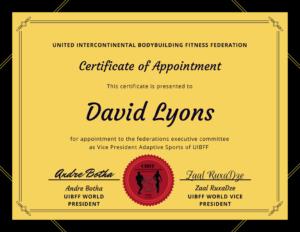 UIBFF Adaptive Sports Certificate