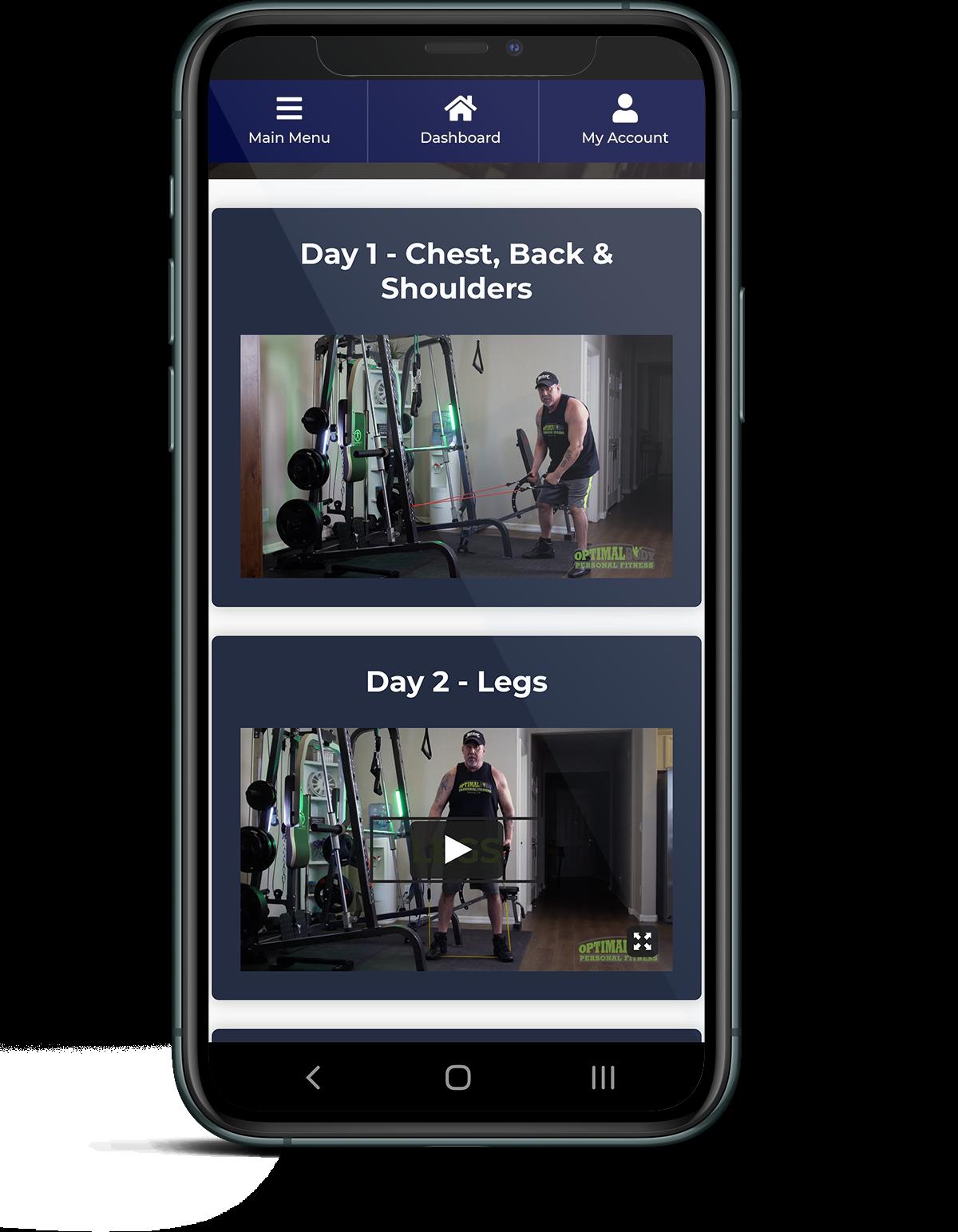 OptimalBody phone app